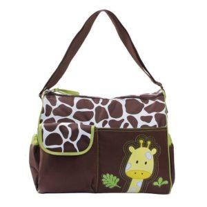 Bolso cambiador para bebés con jirafa