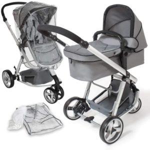 Cochecito de bebé con tres ruedas