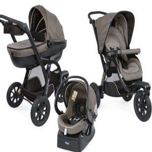 Cochecito trío para bebé plegable y compacto Chicco