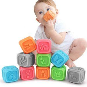 Juguete sensorial de cubos
