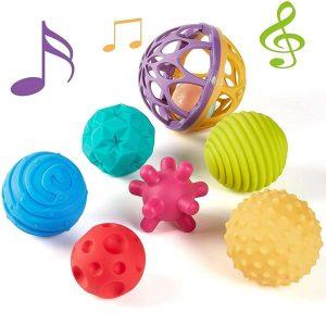 Juguete sensorial de pelotas y sonajeros
