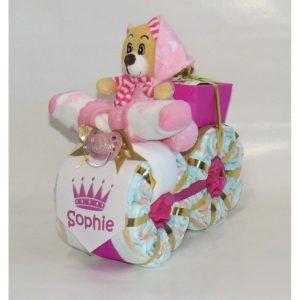 Moto de pañales para princesas