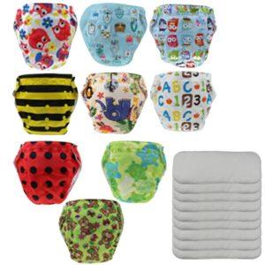 Pack de 9 Pañales de Tela Reutilizables
