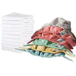 Pañales de tela absorbentes