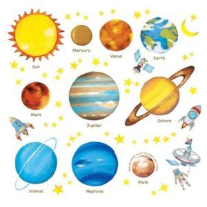 Pegatinas decorativas de planetas