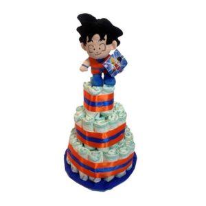 Tarta de pañales de Goku