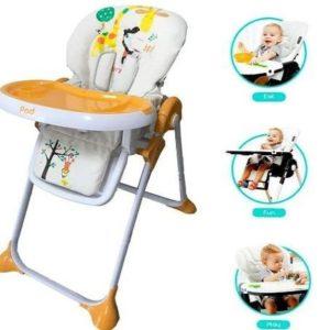 Trona portátil para bebés de jirafa